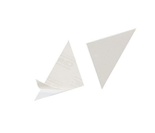 Durable 828119 Dreiecktasche Cornerfix 75 x75 mm selbstklebende Packung à 100 Stück transparent