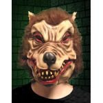 WearWolf wolf Man Nightmare-Überkopf-Maske aus Latex, für Erwachsene, Scary Monster Halloween Horror Fancy Dress Party Happy Bargains (Latex Maske Wolfman)