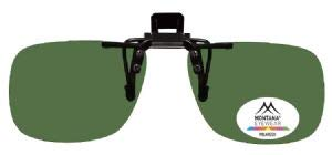 Polarised Clip On Sunglasses Green G15 Lens