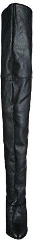 Pleaser Legend-8868 Stivali Sopra La Coscia al Ginocchio, da Donna Nero (Blk Faux Leather)