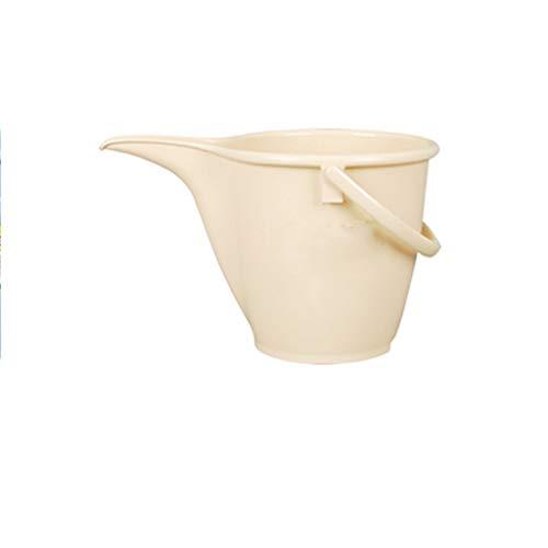 Garten-Eimer-Verdickung - Bewässerungseimer - Tragbare Gießkanne für Sprinkler-Sprinkler-Eimer - 8L (Farbe : Beige) - Tragbare Gießkanne