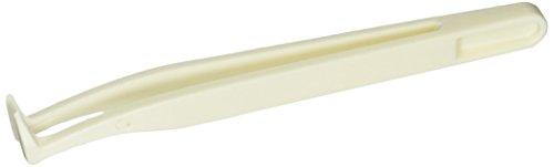 Anti statique en plastique blanc sans poussière Bent courbe Pince à épiler Pointes