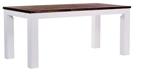 Brasilmöbel Esstisch Rio Classico 200x100 cm Eiche Weiß Massivholz Pinie Holz Esszimmertisch Echtholz Größe und Farbe wählbar ausziehbar vorgerichtet für Ansteckplatten