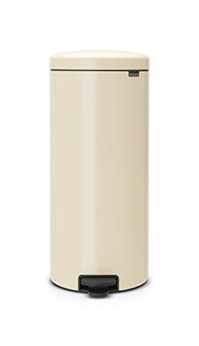 Brabantia 114281 Treteimer mit Inneneimer aus Kunststoff, Stahl, almond, 30 Liter