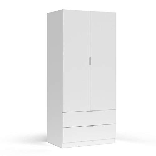 Bianco Legno Bainba Baule Motivo Cuori 47/x 80/x 60/cm