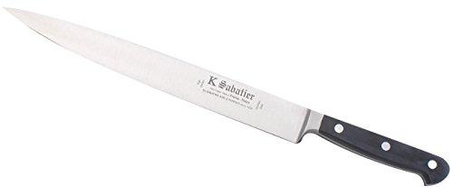 K Sabatier - Tranchelard 26 Cm K Sabatier - Gamme Proxus - Acier Inoxydable - Manche Noir - 100% Forge - Entièrement Fabrique En France