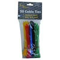 Kabelbinder, farblich sortiert, 150x3,2mm, 50 Stück von NoName - Lampenhans.de