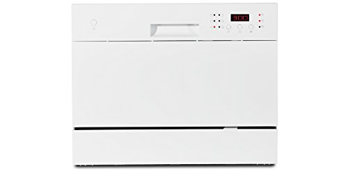 MEDION MD 16698 Tischgeschirrspüler / A+ / 174 kWh/Jahr/ 6 Gedecke Fassungsvermögen / 6 Reinigungsprogramme / weiß (Geschirrspüler 24 Weiß)