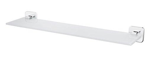 Bisk Forte Gamme Easy Fit Vis ou Colle étagère en Verre, Zinc, Aluminium et Acier Inoxydable, Chrome, 52.5 x 13.3 x 5.5 cm