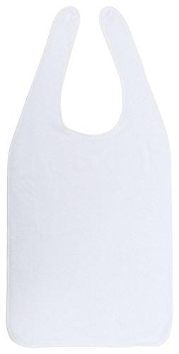 PremiumShop321 Floringo Lätzchen für Erwachsene/Pflege Lätzchen zum Binden Twin Star-weiß