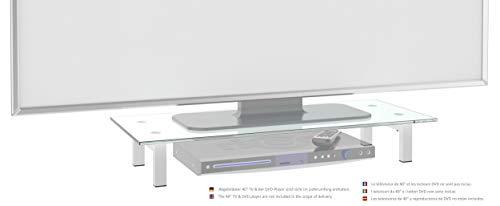RICOO TV Ständer Monitorständer Bildschirmständer Podest FS6028W Universal Standfuß Rack Fernsehständer LCD QLED QE 4K LED OLED IPS SUHD UHD 3D Curved/ 76cm/30-107/42