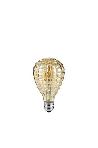 Trio Leuchten Leuchtmittel, Glas, E27, 4 W, braun getönt, Höhe 13,8cm