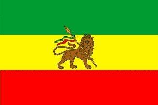 Äthiopien Löwe der Juden Rastafari Flagge 150x90cm