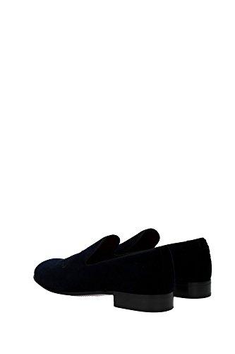 CA5499AL35289656 Dolce&Gabbana Pantoufle Homme Velours Bleu Bleu