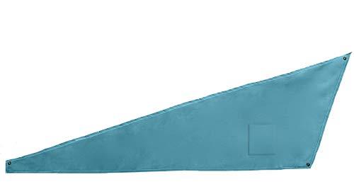 Windblock Basic mit Tasche – mobiler Windschutz für den Strand – Sichtschutz für mehr Privatsphäre – Windblocker zum Schutz vor Sand – Türkis