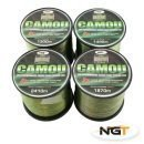 Carp & Coarse Fishing Line Camo Colour available in 8lb 10lb 12lb 15lb Breaking Strain by NGT