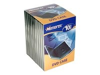 memorex-dvd-movie-cases-black-10-pack-fundas-para-discos-opticos-10-pack-negro