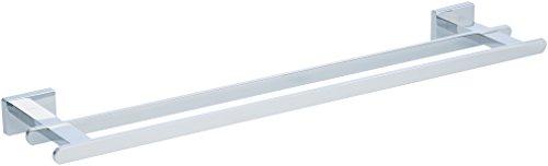 AmazonBasics - Toallero de barra doble de diseño europeo, acabado cromado pulido - 53,34 cm