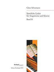 SäMTLICHE LIEDER  BAND 2   VOCAL AND PIANO   BOOK