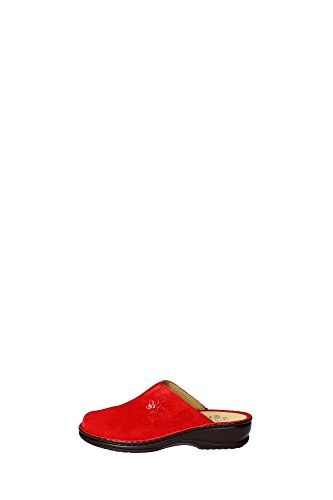 Dr. Scholl Edith Pantoufles femme daim rouge Rouge - Rouge