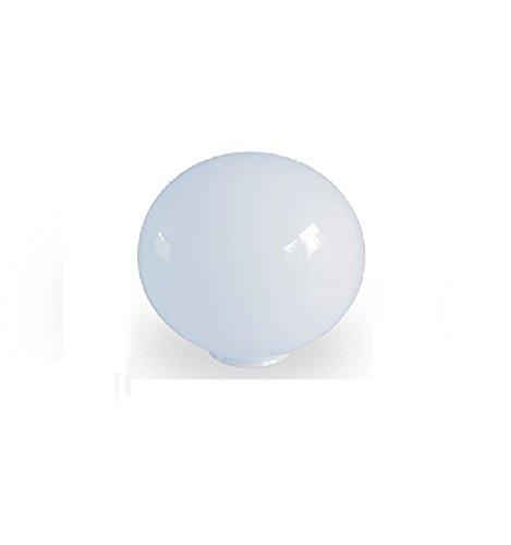 11.5cm diamètre Verre Blanc Sphériques Abat-jour. Circonférence: 36cm, Col (largeur extérieure): 5.5cm dia., Trou: 4.6cm dia. [éclairage lumière ballon rond sphère remplacement lustre globe]