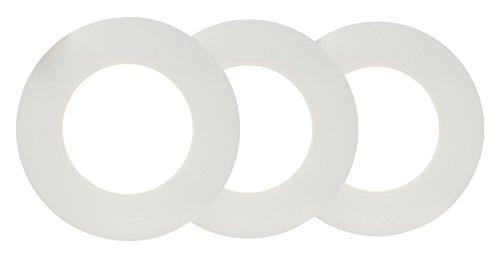 "AEG Orbita LED Einbauleuchten Set: 3 Stück\""Easydim\"" 3 x 500 Lumen, Aluminium, Integriert, 5 W, weiß, 0 x 0 x 3.2 cm, 3 Einheiten"