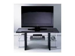 Black High Gloss & Glass TV Stand