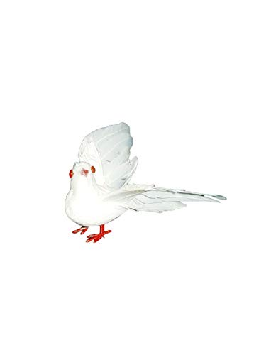 Party Palast - täuschend echt aussehende Taube, 7cm, Halloween Dekoration Deko, ideal für Jede Halloween Party / Feier, Weiß