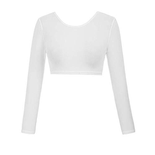 Yvelands Damen beide Seiten tragen Schiere Plus Größe Nahtlose Arm Shaper Tops Mesh Shirt Blusen(CN-S,Weiß1)