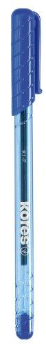 Kores Einweg-Kugelschreiber K-Pen K1, F, 12 Stück, blau