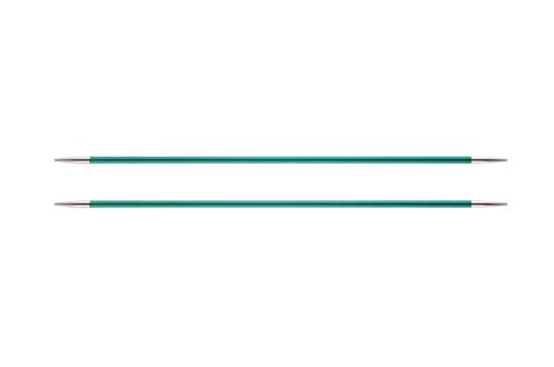 Knit Pro 15 cm x 3,25 mm Aluminio Zing de Tejer de Doble Punta para, Verde