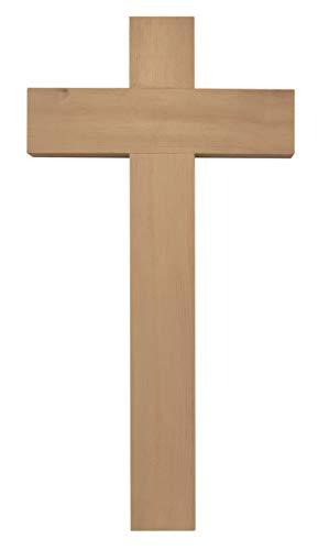 Kaltner Präsente Geschenkidee - 35 cm Wandkreuz Echt Zirbe Zirben Holz Kreuz Holzkreuz Kruzifix für die Wand klassisch