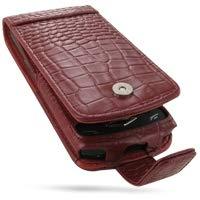 PDair Handarbeit Leder Hülle - Leather Flip Case for Samsung Wave GT-S8500 (Red Crocodile Pattern) Pdair Flip Case
