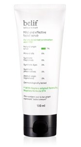 korean-cosmetics-lg-household-health-care-belif-mild-and-effective-facial-scrub-100ml-mild-soft-type