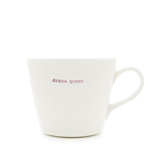 Keith Brymer Jones Kaffeebecher Word Range mit Drama Queen-Schriftzug (Queens Kochen Geschirr)