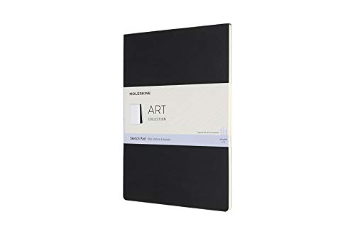 Moleskine 8058647626857 - Blocco per schizzi, 120 g, carta A4, copertina in cartone, nero