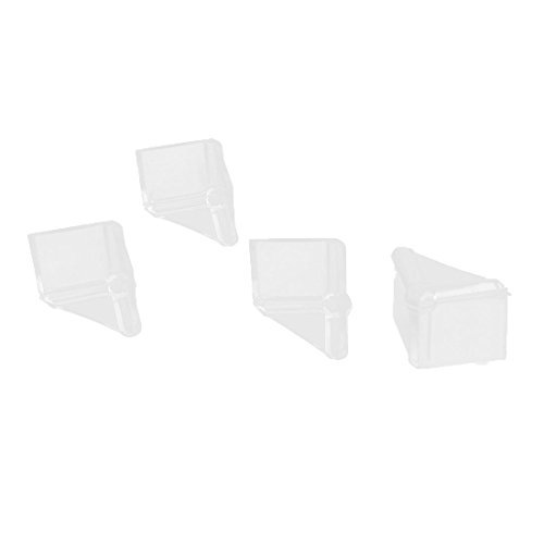 Deal Mux Home Table Meubles en caoutchouc bord Corner Coussin de protection de protection de voiture 4pcs Transparent