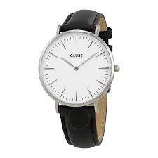 cluse orologio analogico quarzo da donna con cinturino in pelle cl18208