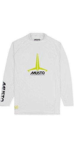 Junior Abzeichen UV schnell Dry Ls T-Shirt T-Shirt Top Weiß - UV-Sonnenschutz und SPF-Eigenschaften - Unisex ()