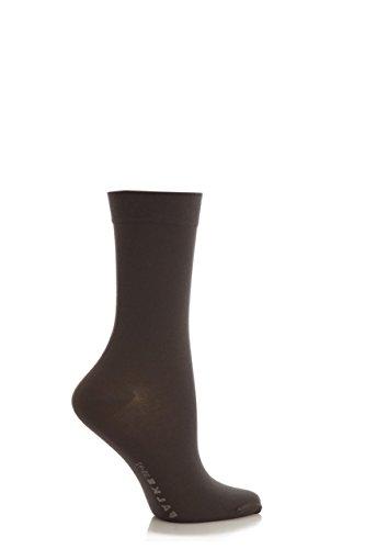 Damen 1 Paar Falke Cotton Touch-Fußkettchen Socken In 11 Farben - 5,5-8 Ladies - Platinum (Grau Socken Fußkettchen)
