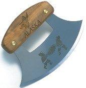 inupiat Birke Alaska Besteck Ulu Banjolele Messer Decke Toss