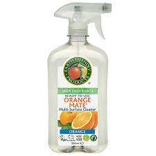 EARTH FRIENDLY Nettoyant Cuisine à l'Orange - Vous cuisinez, il nettoie - Nettoyage naturel et très efficace - Biodégradable - Parfum:Orange - 500 ml