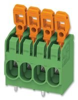 TERMINAL BLOCK, WIRE TO BRD, 4POS, 10AWG PLH 5/ 4-7,5-ZF By PHOENIX CONTACT