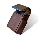 Cigarette case Brown Faux Leather Cigarette & Lighter Case Holder Brown Colour  available at amazon for Rs.399