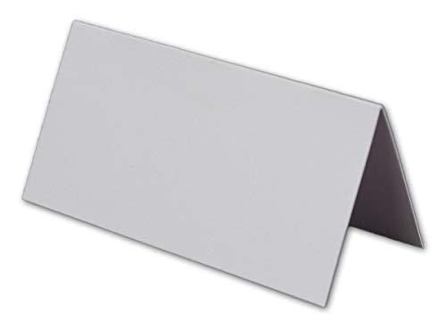 100 Kleine weiße neutrale universale Stabile Einfarbige Blanko -Tischkarten 8x4 cm Namens-Schilder Sitzkarten Platzkarten Preisschilder Tisch-Aufsteller mit JEDEM Stift beschreibbar