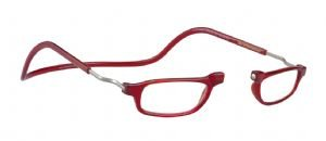 Reading Glasses Clic Base Red Magnetic Readers-Strength +2.00