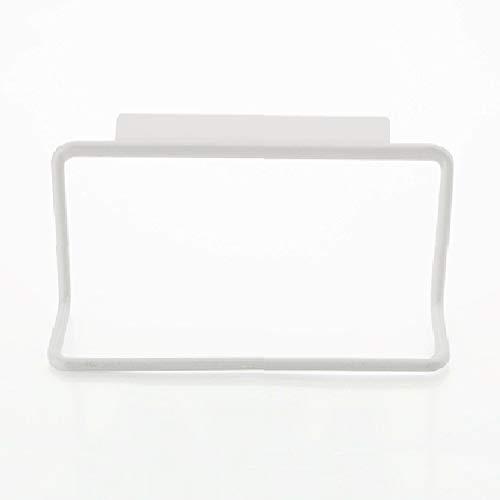 Hbwz 2 STÜCKE Schranktür Zurück Handtuchhalter Einzelstange Kunststoff Nicht Kennzeichnung Rag Rack Handtuchhalter Mehrzweck Kleinigkeiten Hängen,White,2PCS -