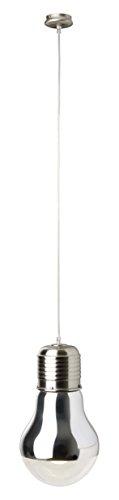 Brilliant Bulby Pendelleuchte, 1-flammig, 1x E27 maximal 42W, Metall/Glas, chrom/transparent 93283/15