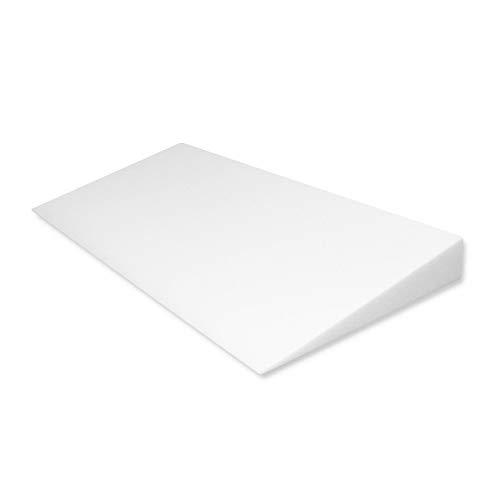 Fränkische Schlafmanufaktur Keilkissen Bettkeil Poly 9/1cm für Matratzen und Wasserbetten Breite 100cm -