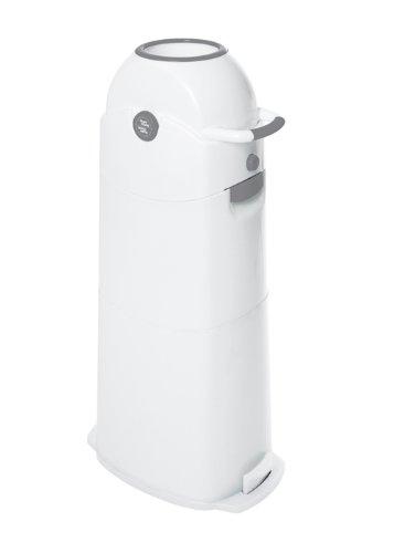 Geruchsdichter Windeleimer Diaper Champ large silber - für normale Müllbeutel